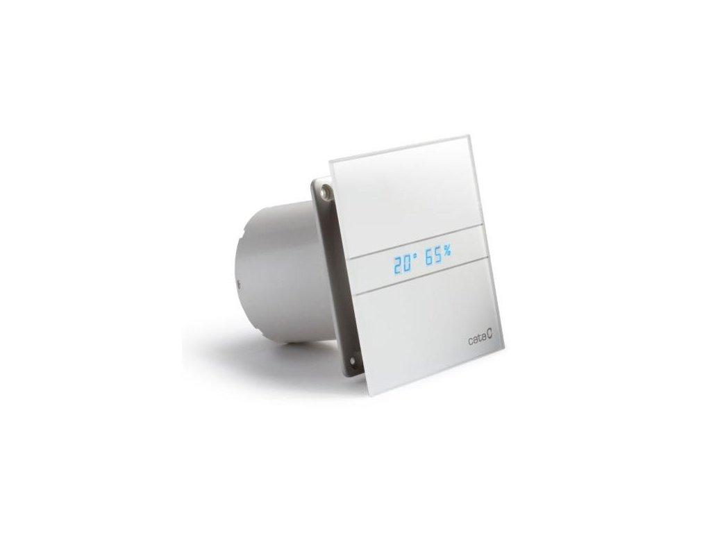 Axiální ventilátory na zeď či do stropu E100 GTH, HYGRO, s časovačem, sklo bílé