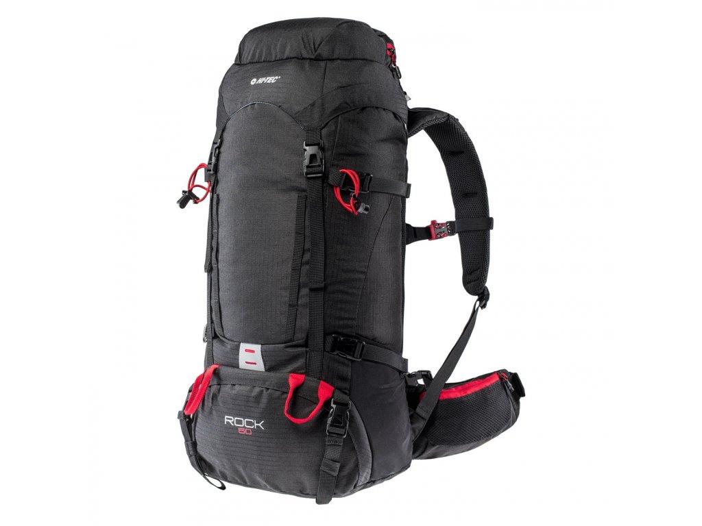 Batoh HI-TEC Rock 50 l - black/high risk red