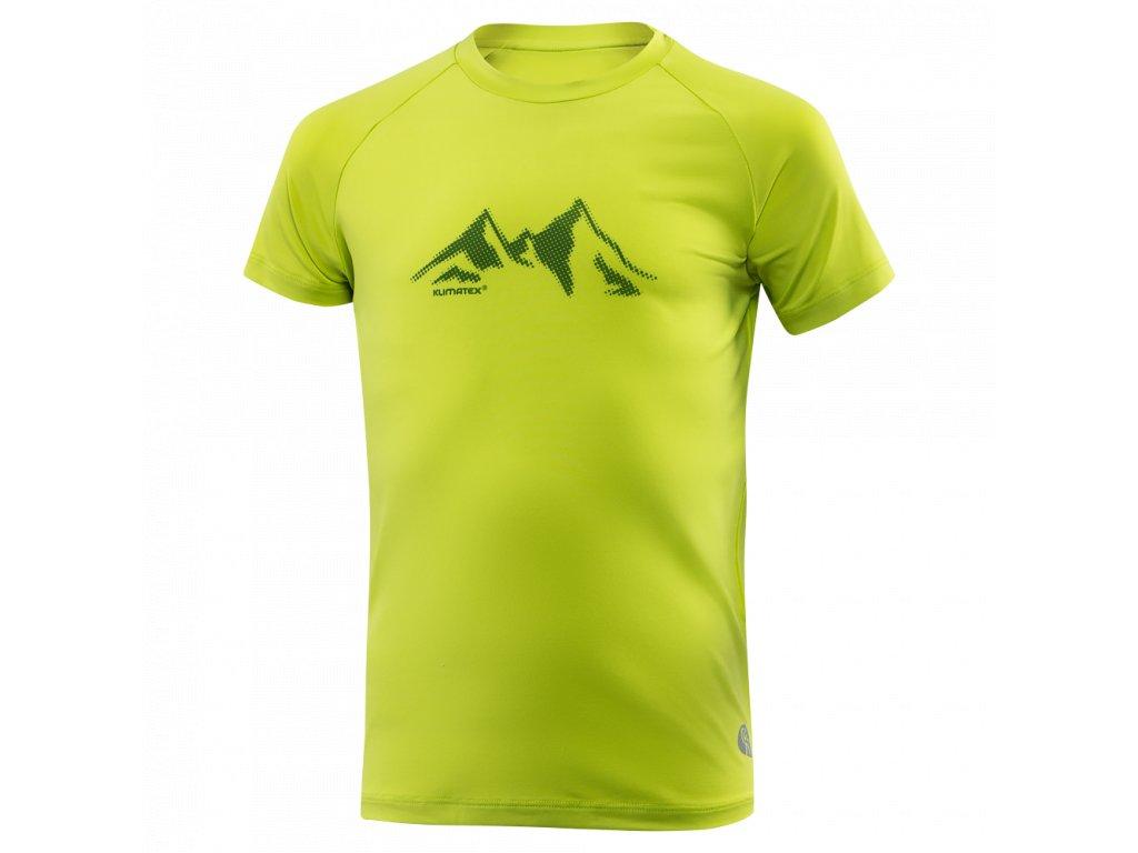 Dětské triko KLIMATEX Anson - sv. zelená