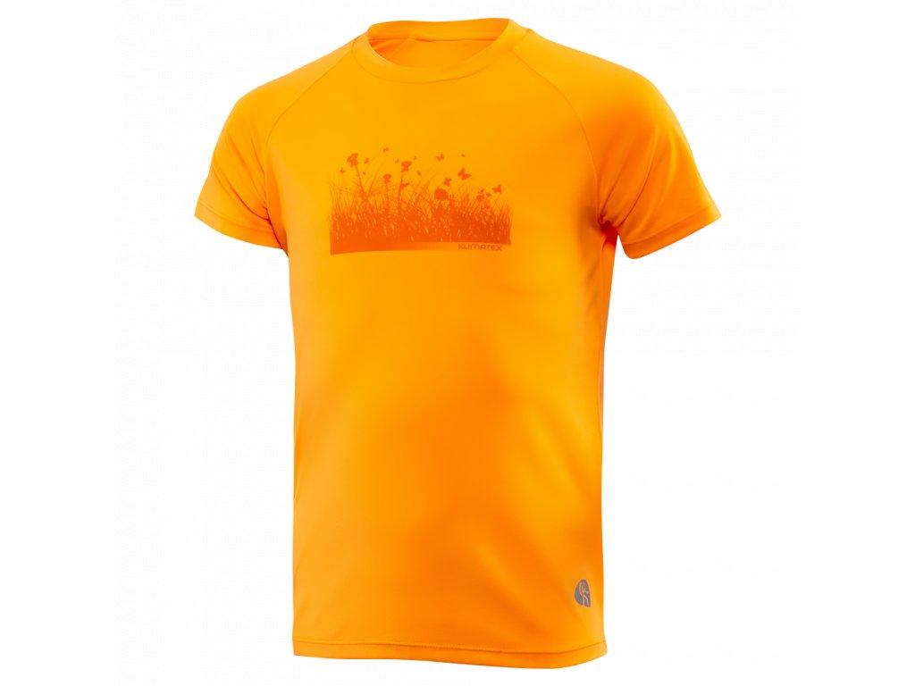 Dětské triko KLIMATEX Tami - oranžová neon