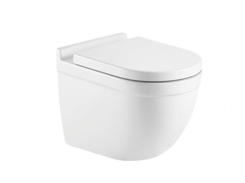Závěsné WC OVALE RIMLESS se SLIM sedátkem Soft-close