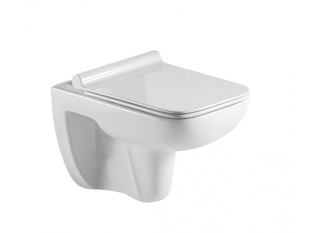 Závěsné WC ADDATO RIMLESS se SLIM sedátkem Soft-close