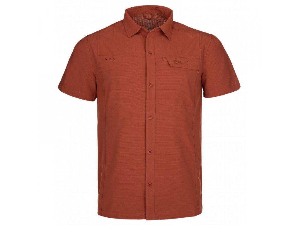 Pánská košile KILPI Bombay-M tmavě červená (4XL - 7XL)
