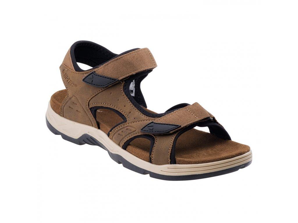 Pánské sandéle HI-TEC Lucibel - dark brown/black