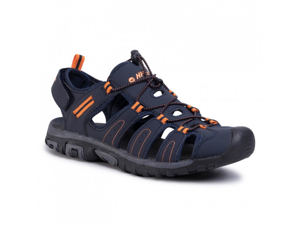 Pánské sandále HI-TEC Tiore - navy/dark grey/orange