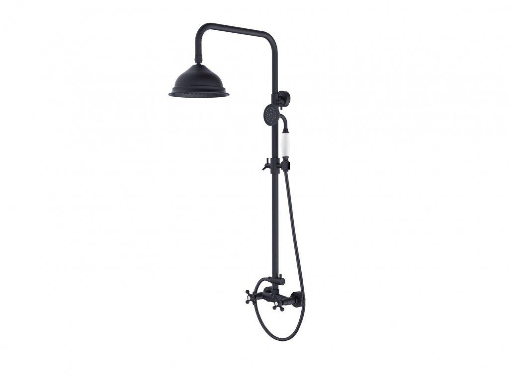 Nástěnný sprchový set RETRO černá