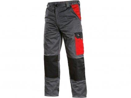 Pracovní kalhoty CXS Phoenix Cefeus - šedá/červená