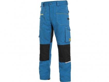 Pracovní kalhoty CXS Stretch - středně modrá/černá