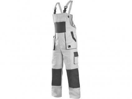 Pracovní kalhoty CXS Luxy Robin - bílá/šedá