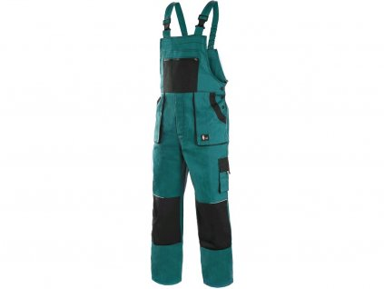 Pánské montérkové kalhoty s laclem (zahradníky) pro širokou škálu činností.