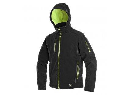 Pánská softshellová bunda CXS Durham -  černá/žlutá