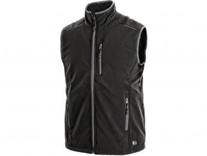 Pánská softshell vesta CXS Topeka - černá
