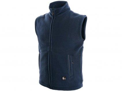 Pánská fleecová vesta CXS Utah - tmavě modrá