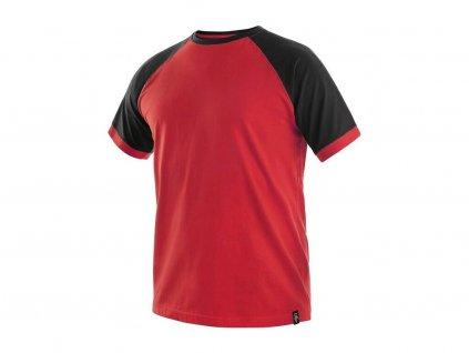 Tričko CXS Oliver - červená/černé