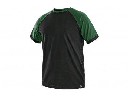 Tričko CXS Oliver - černá/zelená