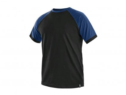 Tričko CXS Oliver - černá/modrá