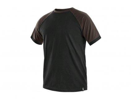 Tričko CXS Oliver - černá/hnědé