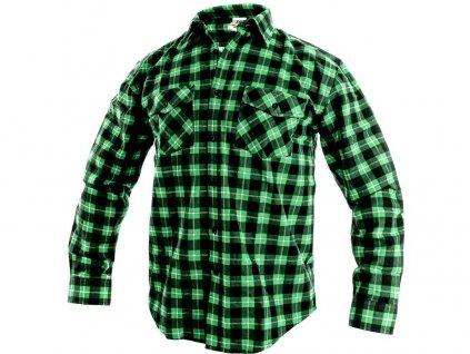 Košile CXS Tom - zelená/černá