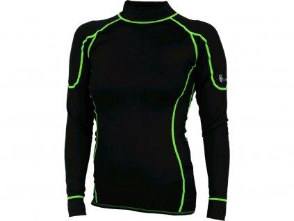 Dámské funkční tričko CXS Reward - černá/zelená