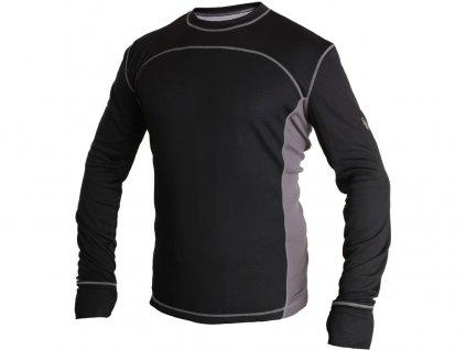 Pánské funkční tričko CXS CoolDry - černá/šedé