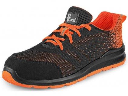 Bezpečnostní obuv CXS Texline Cres S1 černá/oranžová