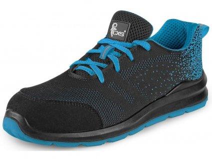 Bezpečnostní obuv CXS Texline Vis S1 černá/modrá