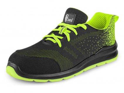 Bezpečnostní obuv CXS Texline Rab S1 černá/zelená