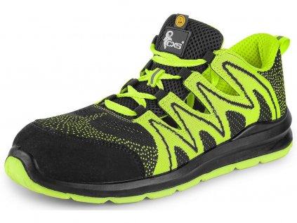 Bezpečnostní obuv CXS Texline Olib S1P ESD černá/zelená