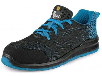 Bezpečnostní obuv CXS Texline Silba S1P ESD černá/modrá
