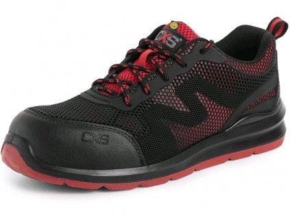 Bezpečnostní obuv CXS Island Paros S1P ESD černá/červená