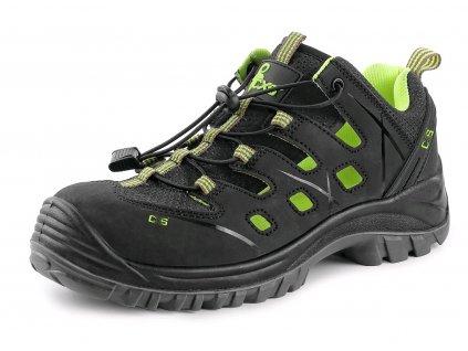 Bezpečnostní sandál CXS Universe Solar S1P ESD černá/zelená