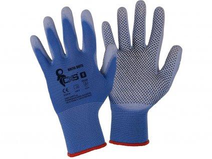 Pracovní potvrstvené rukavice CXS Brita Dots