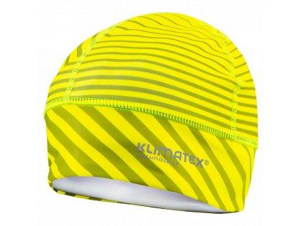 Běžecká čepice KLIMATEX Machar - žlutá neon