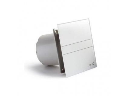Axiální ventilátory na zeď či do stropu E100 GT, s časovačem, sklo bílé