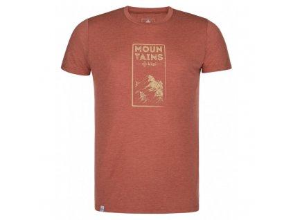 Pánské triko KILPI Garove-M tmavě červená