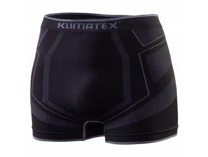 Pánské boxerky KLIMATEX Andris - černá/antracit