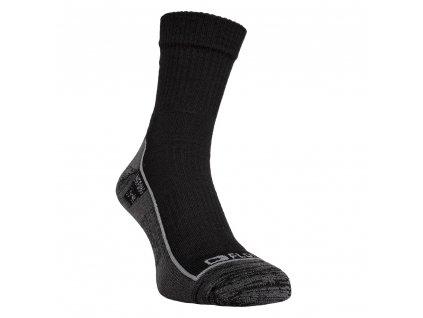 Merino ponožky FLORES Merino LT - černá/šedá