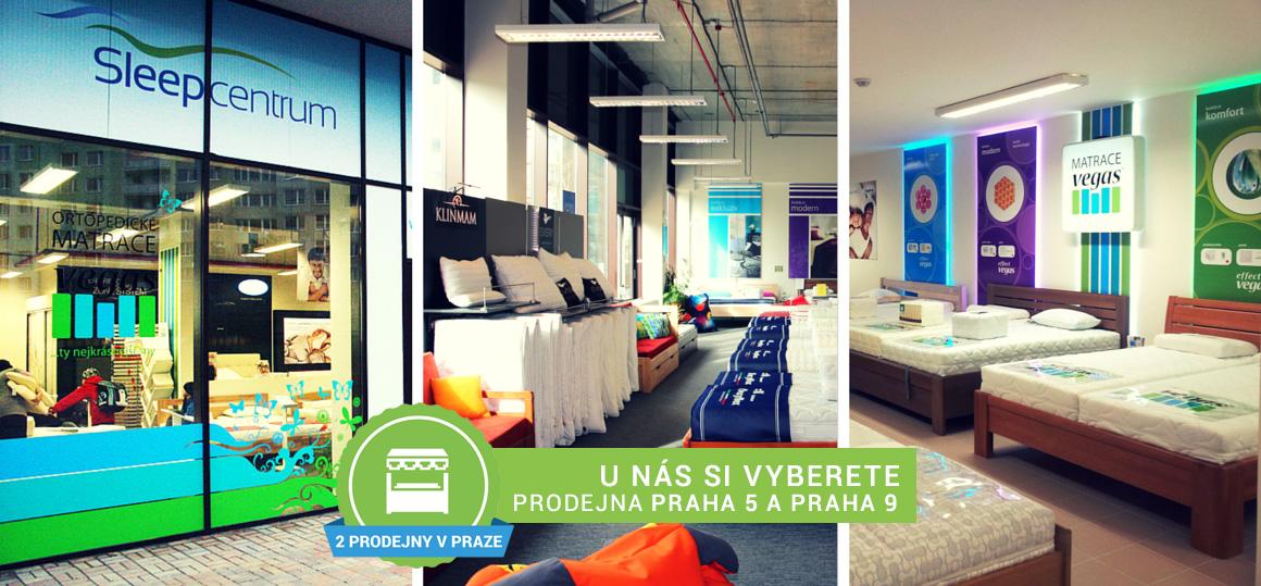 U nás si vyberete, prodejna Sleep Centrum Praha 5 a Praha 9
