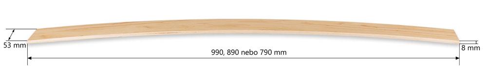 Lamela 53 mm - popis