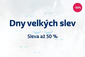 Dny velkých slev - sleva až 50 % Sleep Centrum