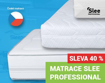 České matrace Slee Professional se slevou 40 %