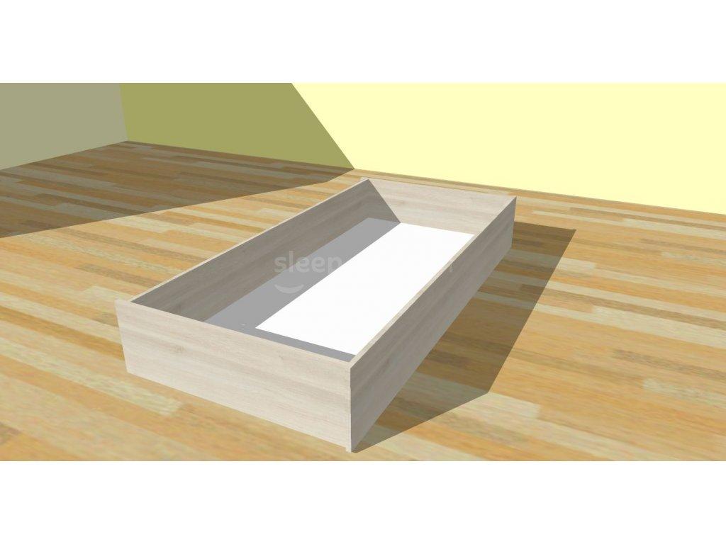 Boční zásuvka na kolečkách - imitace dřeva (Dekor Třešeň Romana, Typ půlená - 98 cm)