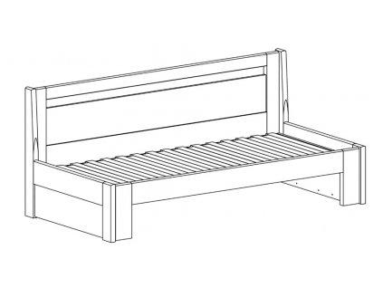 Postel Tandem PLUS bez područek - imitace dřeva (Dekor Třešeň Romana, Provedení rovné, Rozměr 90/170 x 200 cm)