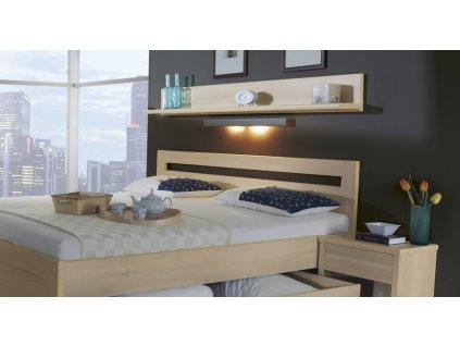 Police nad postel - imitace dřeva (Dekor Třešeň Romana, Šířka 169 cm)