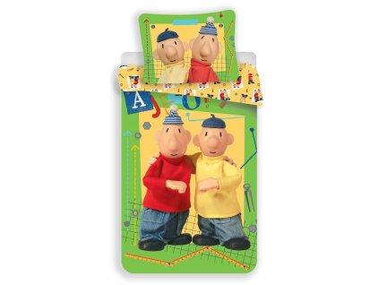Dadka Pat a Mat green dětské bavlněné povlečení