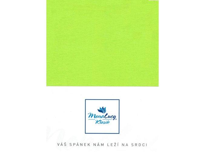 Every jersey prostěradlo - světle zelená