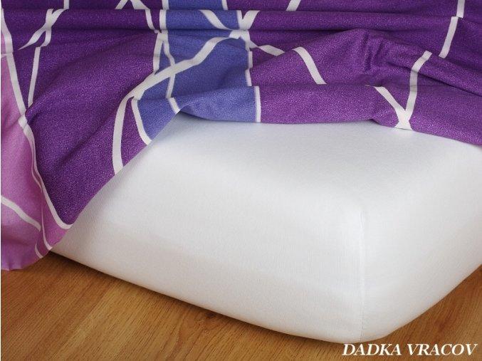 Prostěradlo jersey napínací - barva bílá