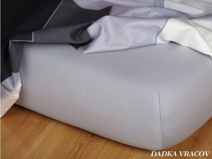 Prostěradlo jersey napínací - barva šedá