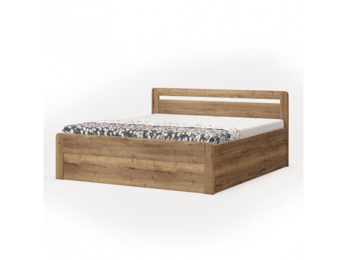 Postel Marika Klasik oblá - imitace dřeva (Dekor Třešeň Romana, Rozměr 180 x 200 cm)