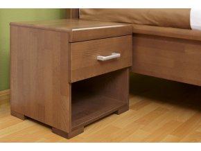 Noční stolek s 1 zásuvkou Carolina - buk